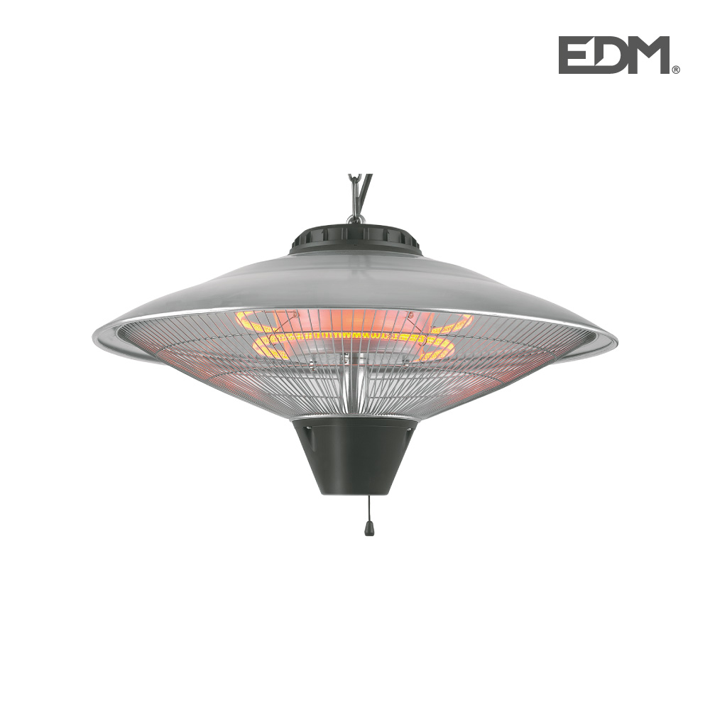 Estufa de cuarzo de exterior – de techo – 2100w – edm