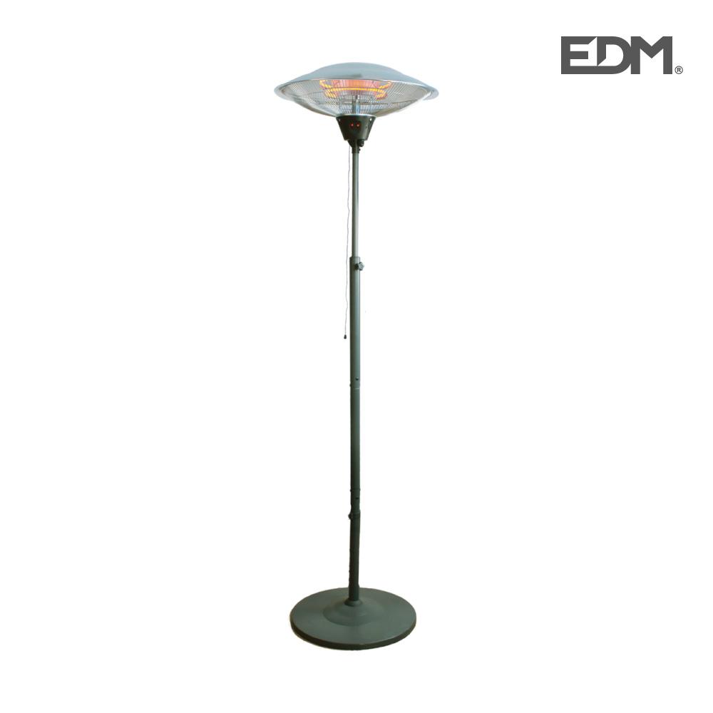 Estufa de cuarzo de exterior – con pie – 2100w – edm
