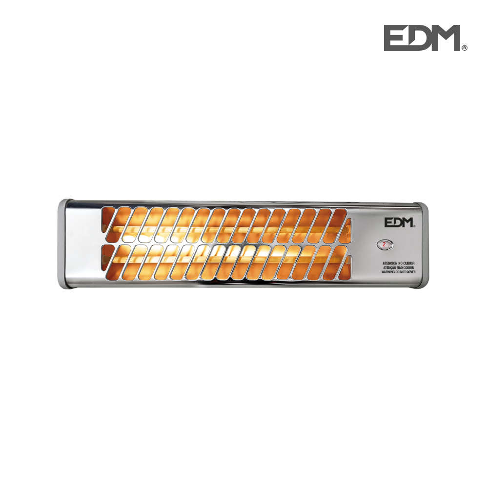 Estufa de baño de cuarzo – modelo cromo – 600-1200w  orientable – edm