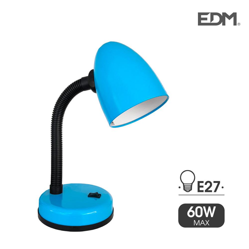 Flexo de sobremesa modelo amsterdam e27 60w azul edm