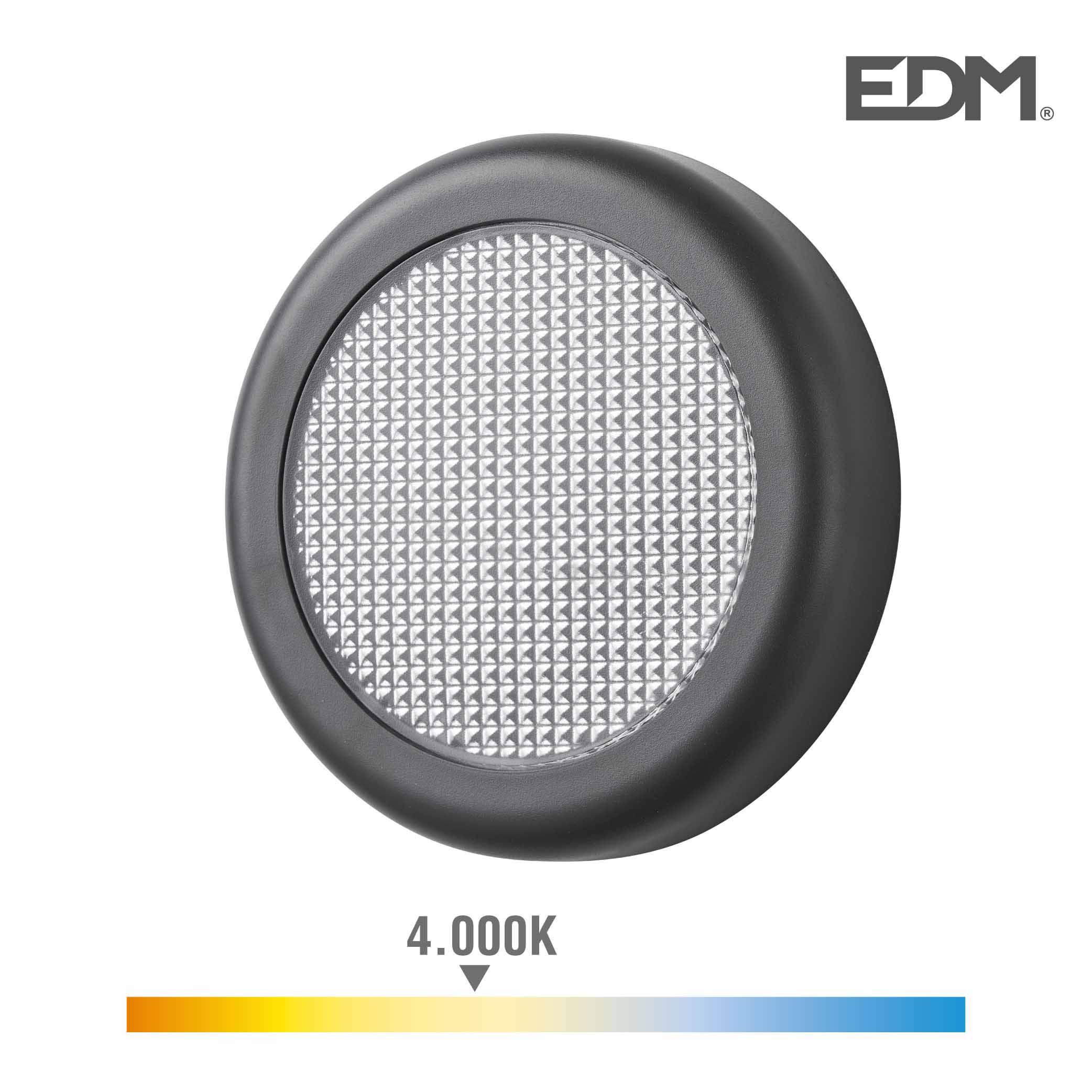 Aplique led 6w 450 lumen 4.000k luz dia ip65 redondo edm