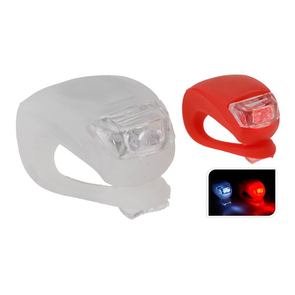 Linterna señalizadora para bicicleta (pack 2 uni) dunlop