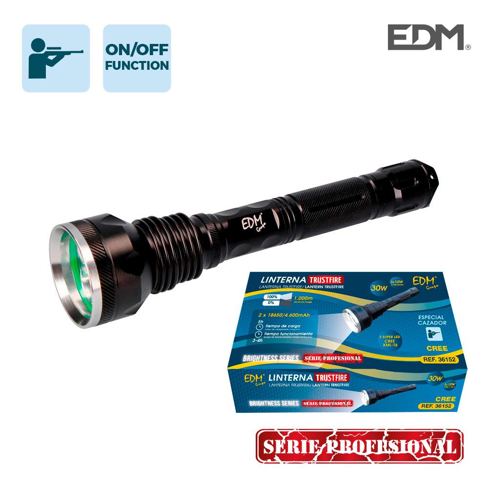 Super linterna 3 leds t6 30w 2400 lumens