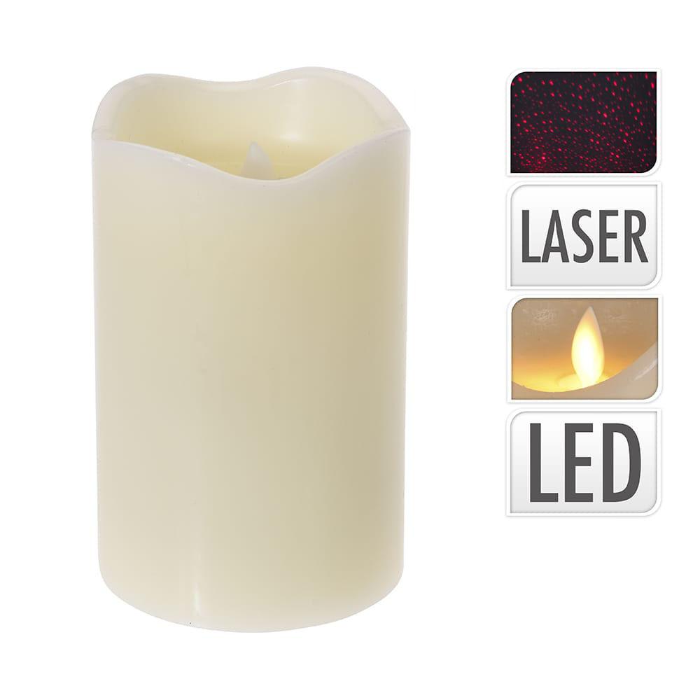 Vela led efecto fuego real y laser