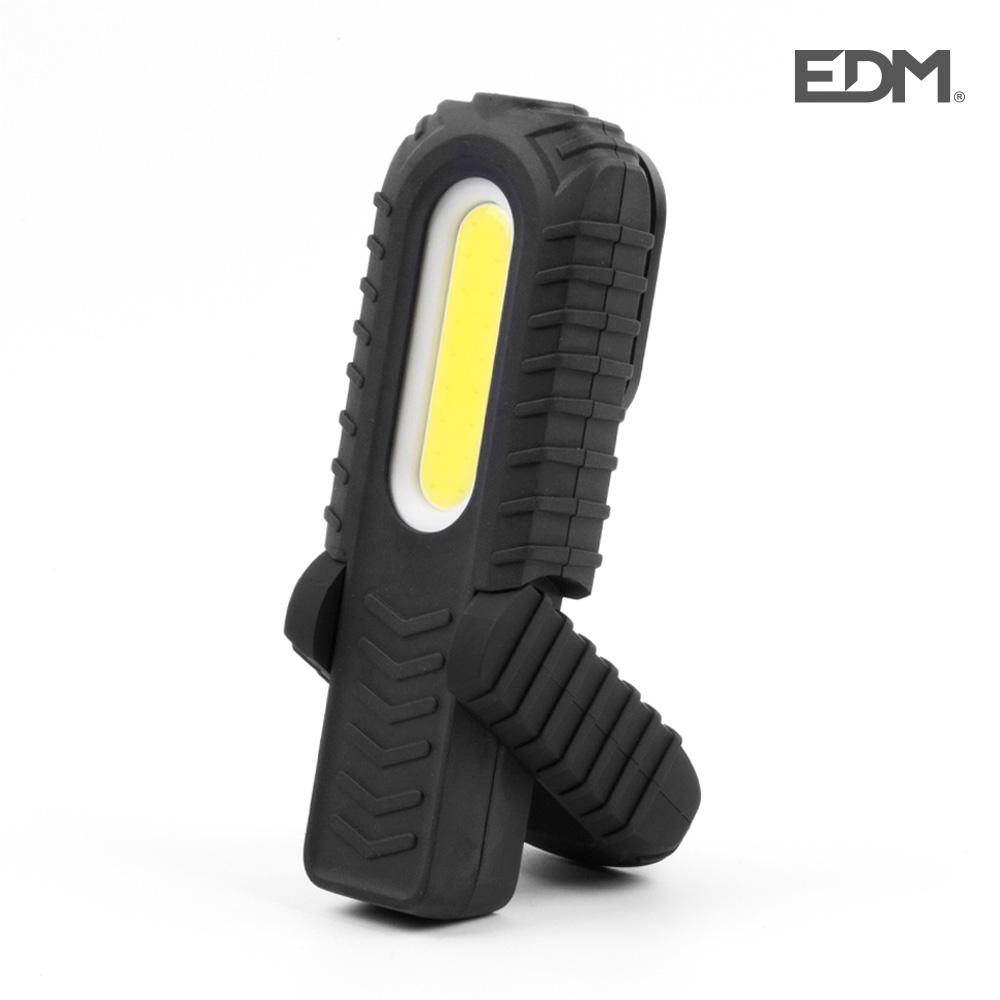 Linterna led luz frontal dos potencias,luz superior, indicador bateria.recargable.300lumens frontal, 90 lumens superior edm