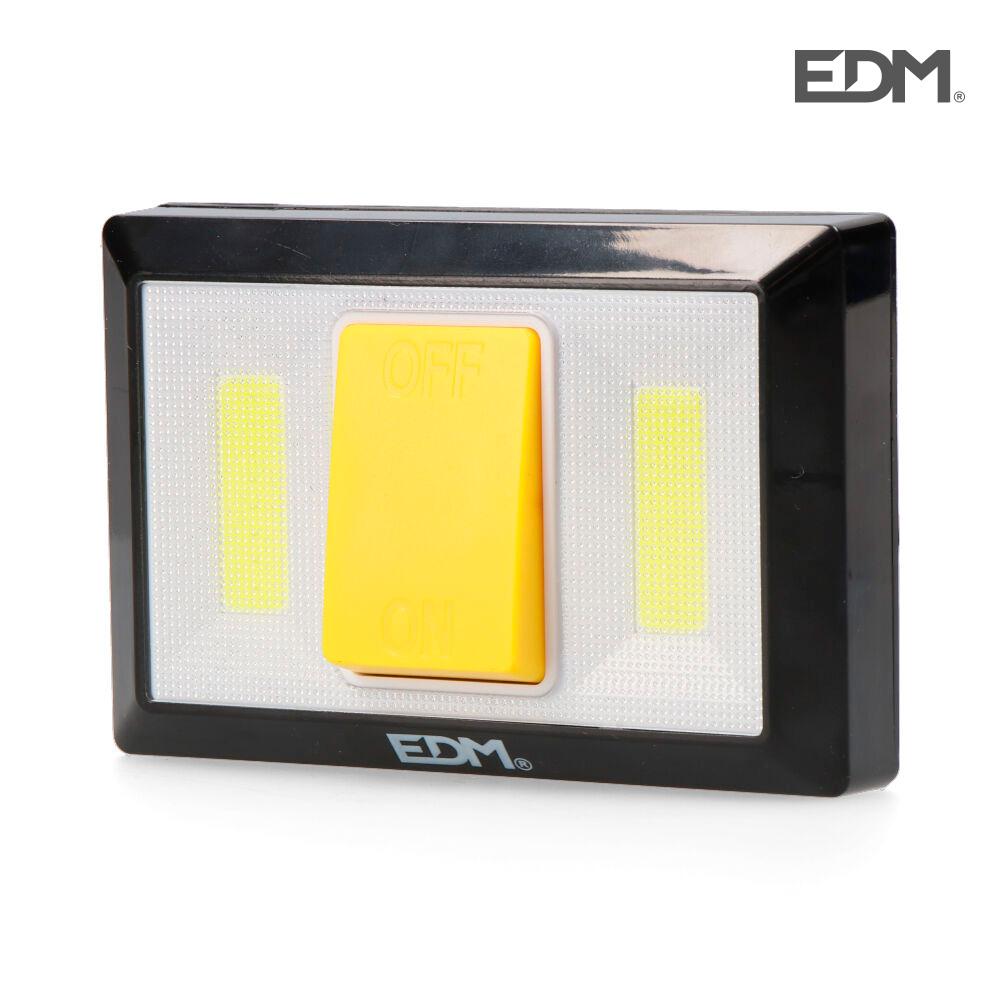 Linterna 200 lumens con base imantada y adhesiva edm