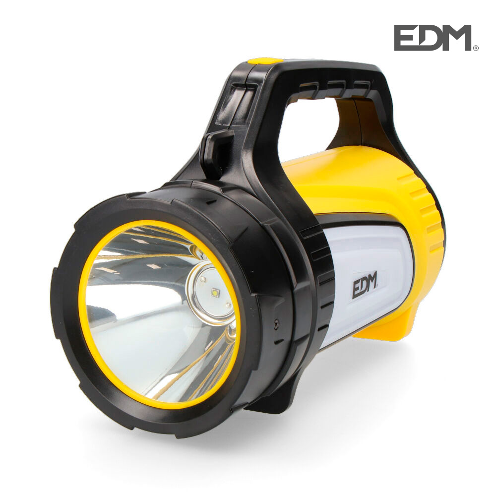 Linterna multifuncion portatil luz principal + lateral y power bank 350 lm  edm