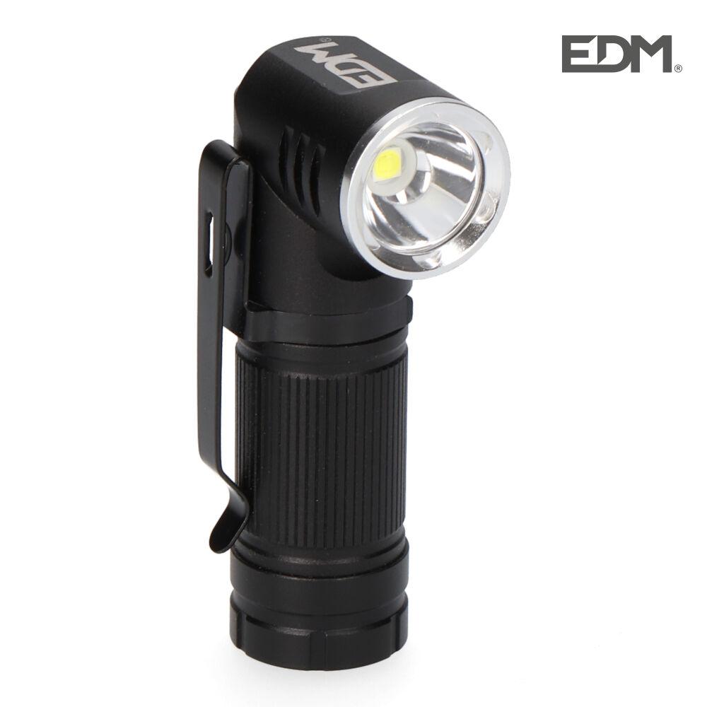 Mini linterna led plegable recargable 450 lumen edm