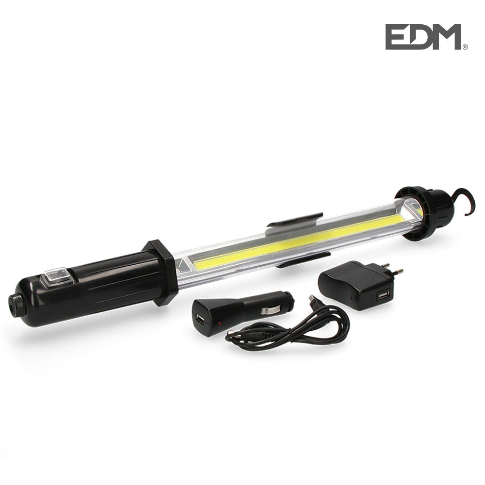 Linterna portatil led recargable 5w 350 lumen edm