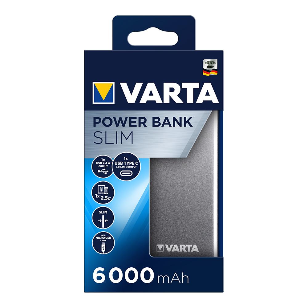 *ult.unidades* power bank varta plano 6000 mah