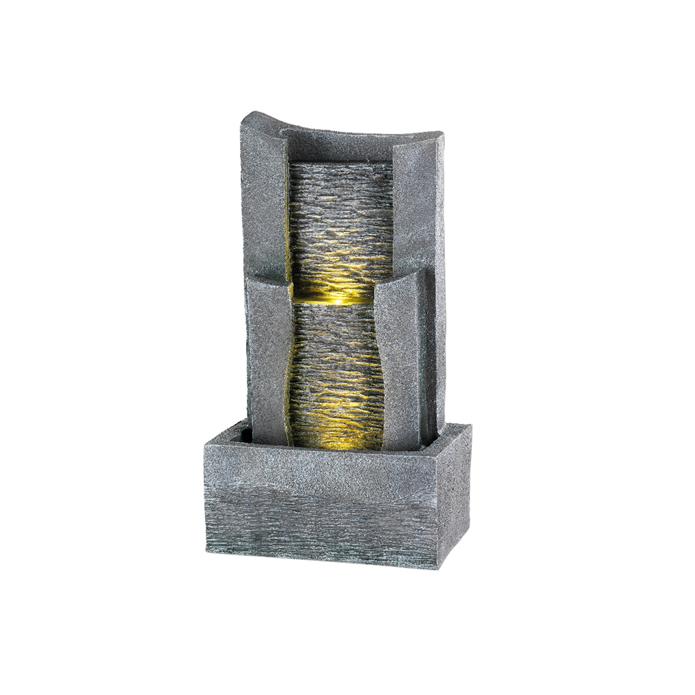 Fuente led de dos gradas para exterior