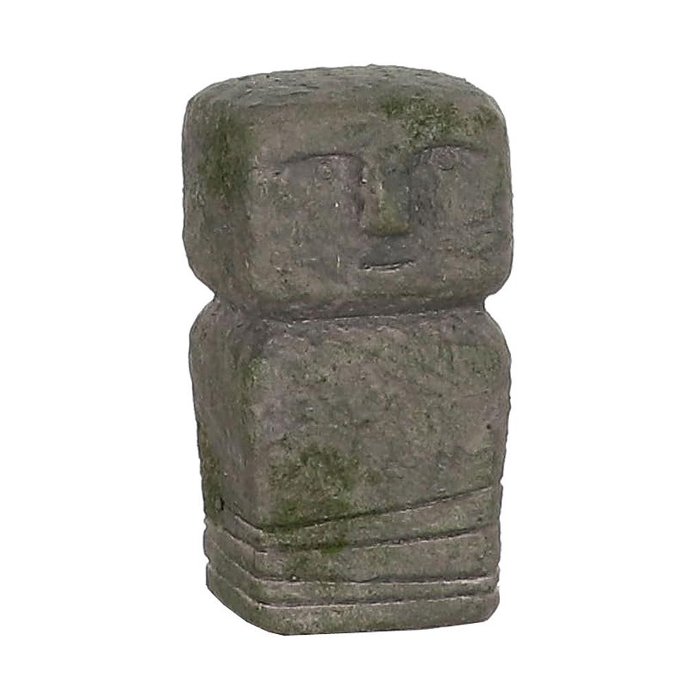 Ultimas unidades :  totem isla de pascua gris 8x9x14.5cm