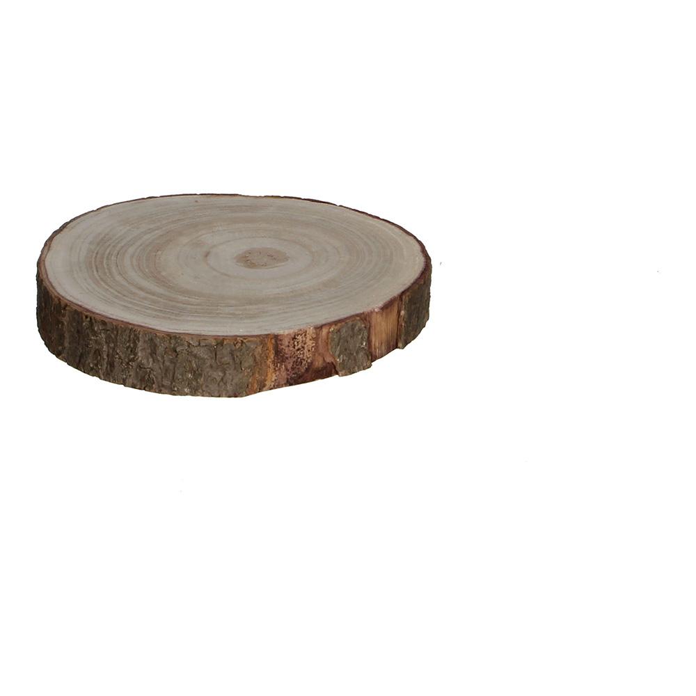 Base decorativa tronco de madera altura 3cm