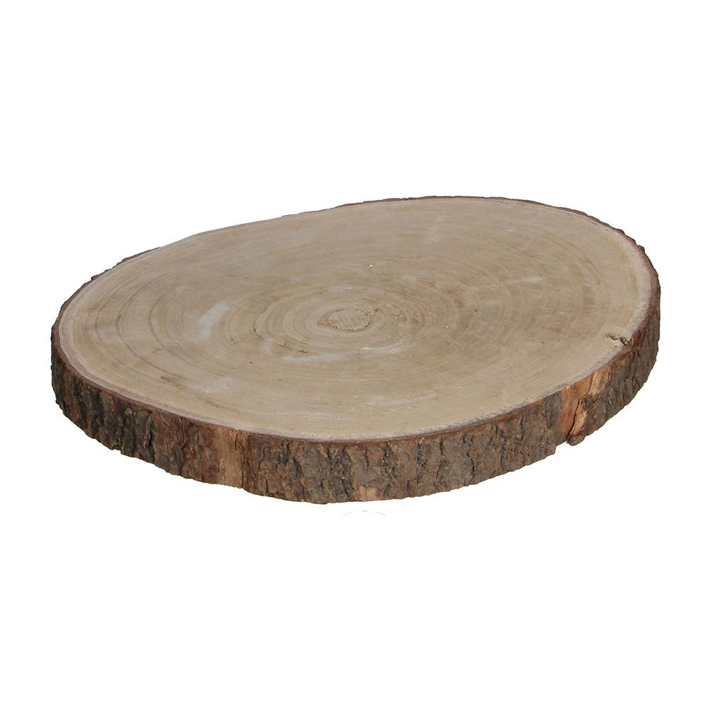 Base decorativa tronco de madera altura 4cm