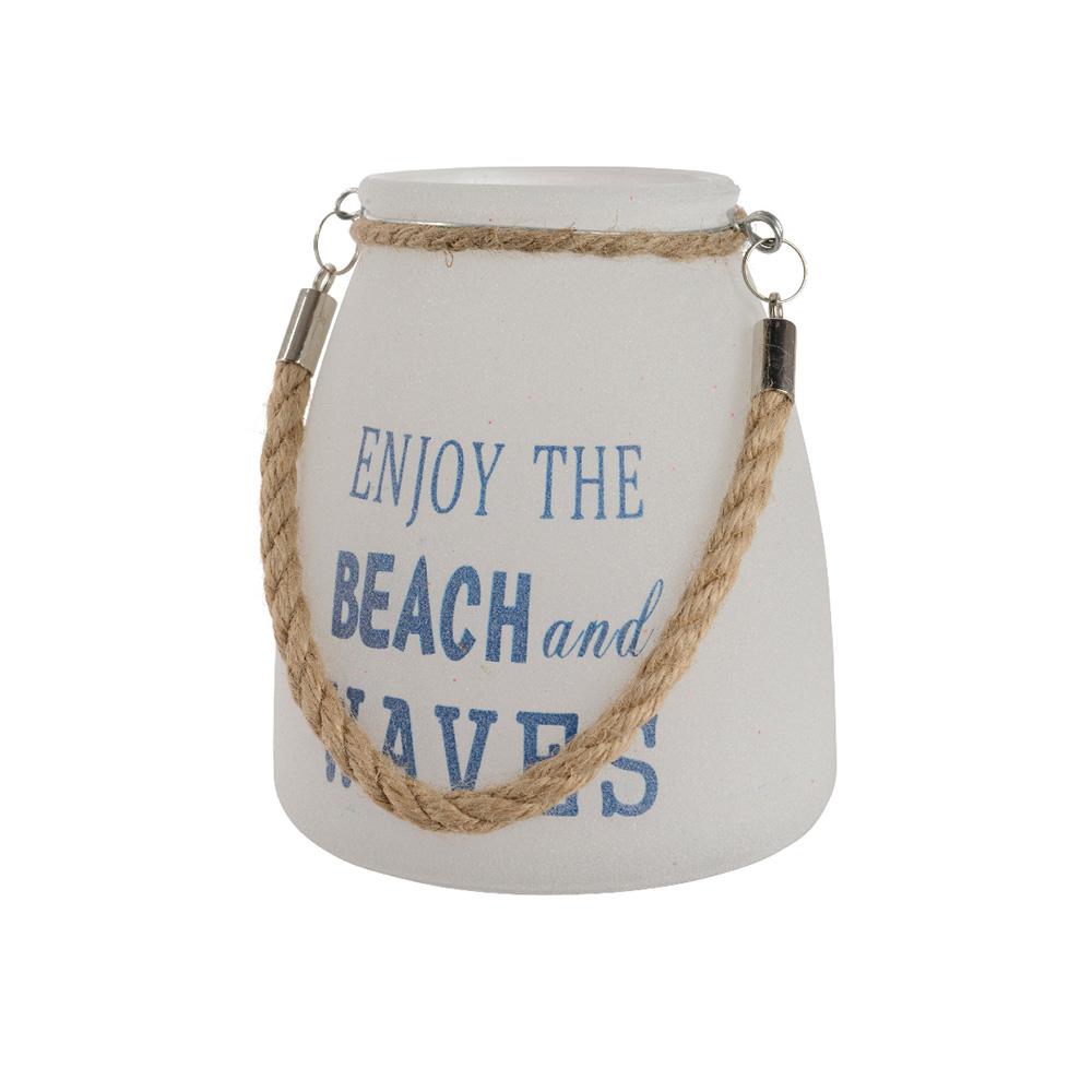 Ultimas unidades :  portavelas mensaje enjoy the beach and waves