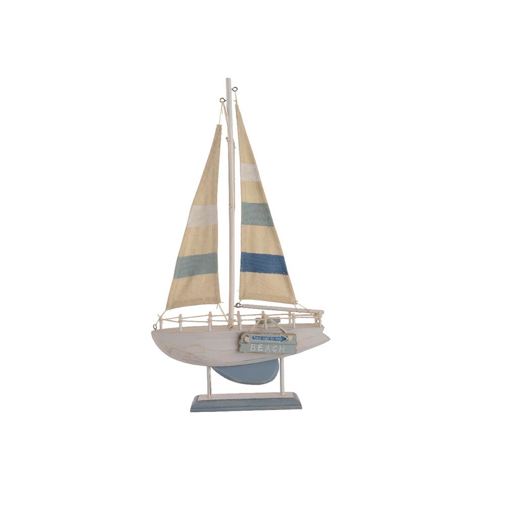 Ultimas unidades :  barco decorativo de madera 43cm