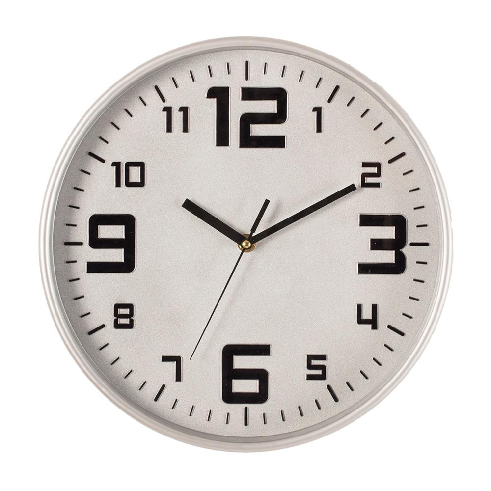 Reloj color plata ø30cm