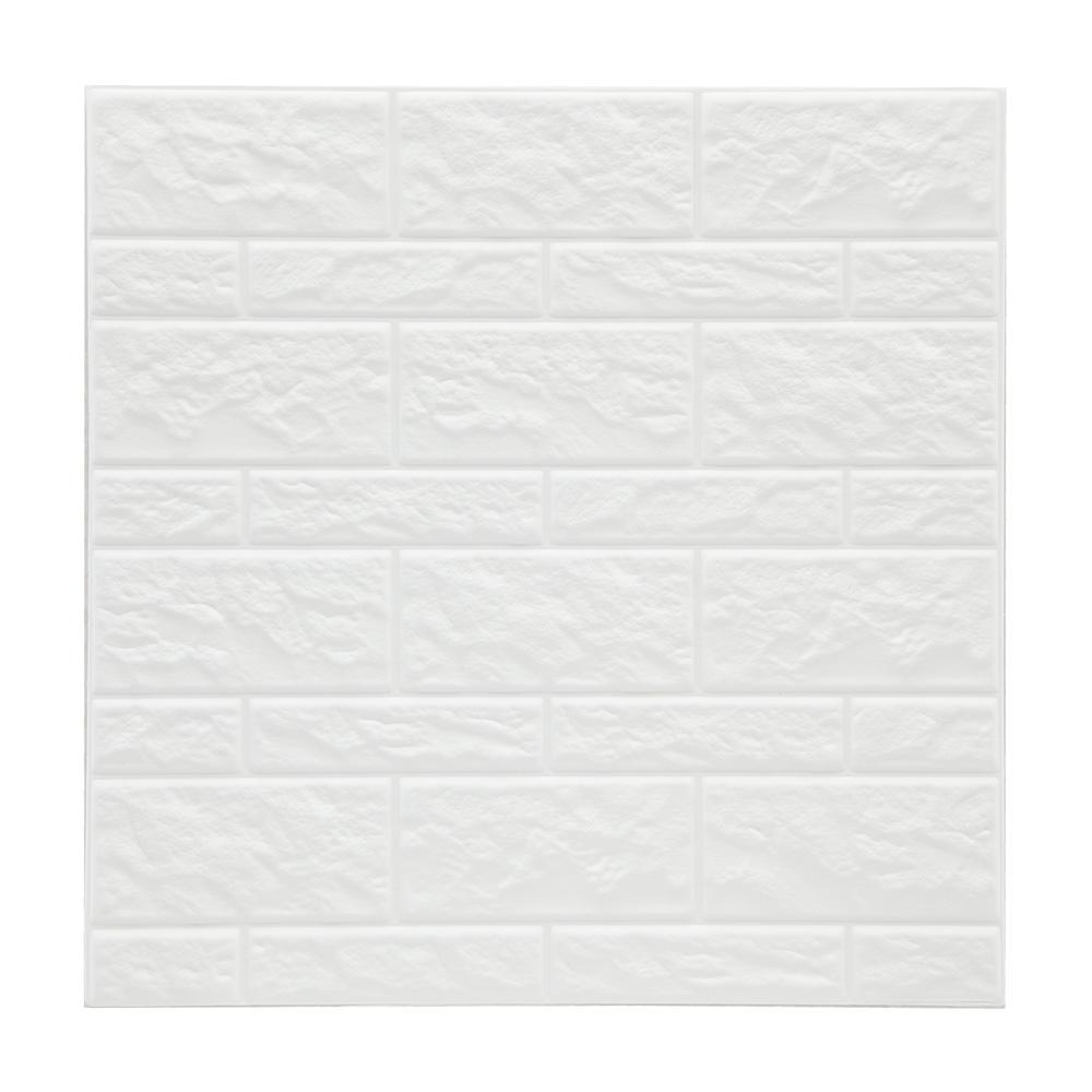 Pack 2 sticker imitacion muro color blanco 30x30cm