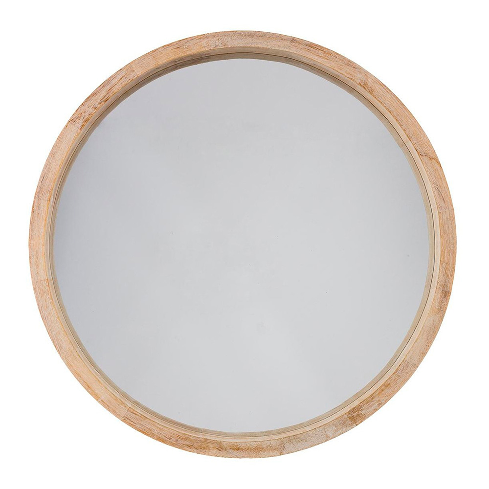 Espejo redondo color natural diam.50 cm