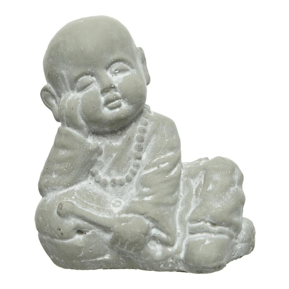 Ultimas unidades :   figura monje sentado 15x10x17cm
