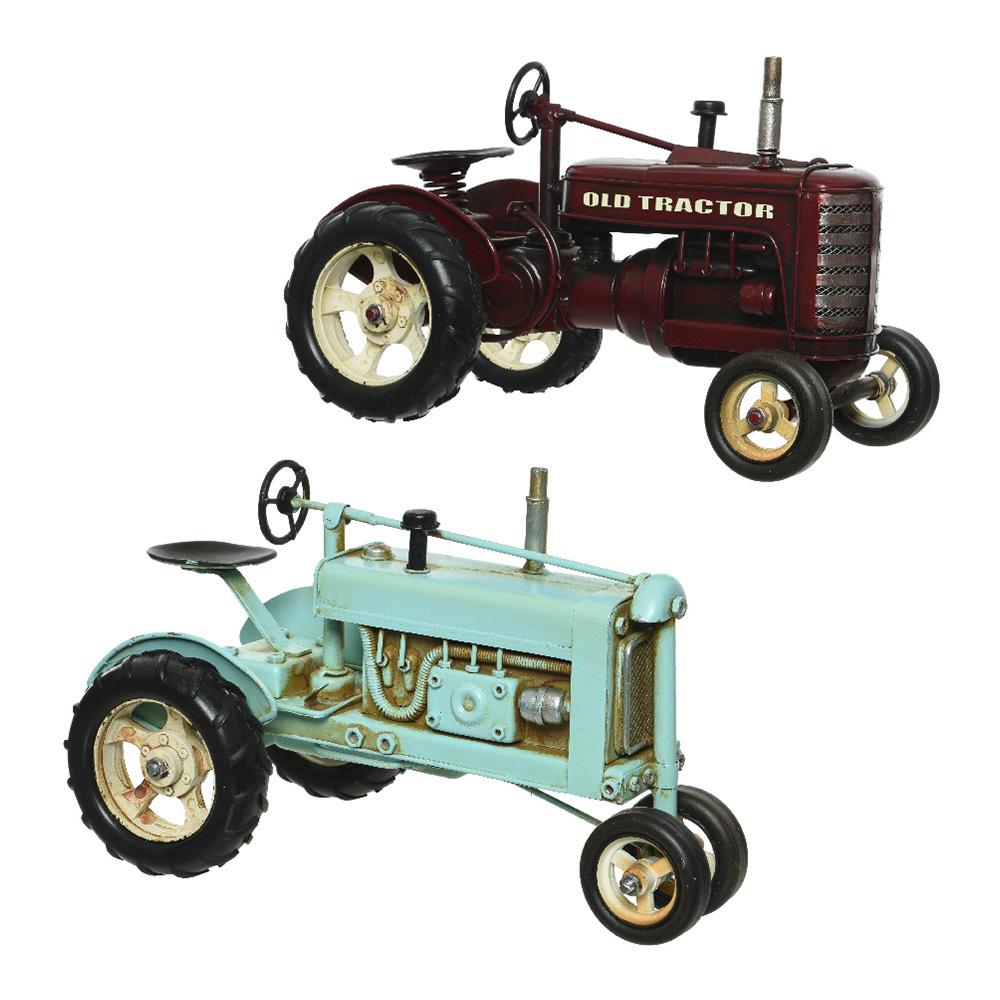 Tractor metalico decorativo 16×16,5x25cm modelos surtidos