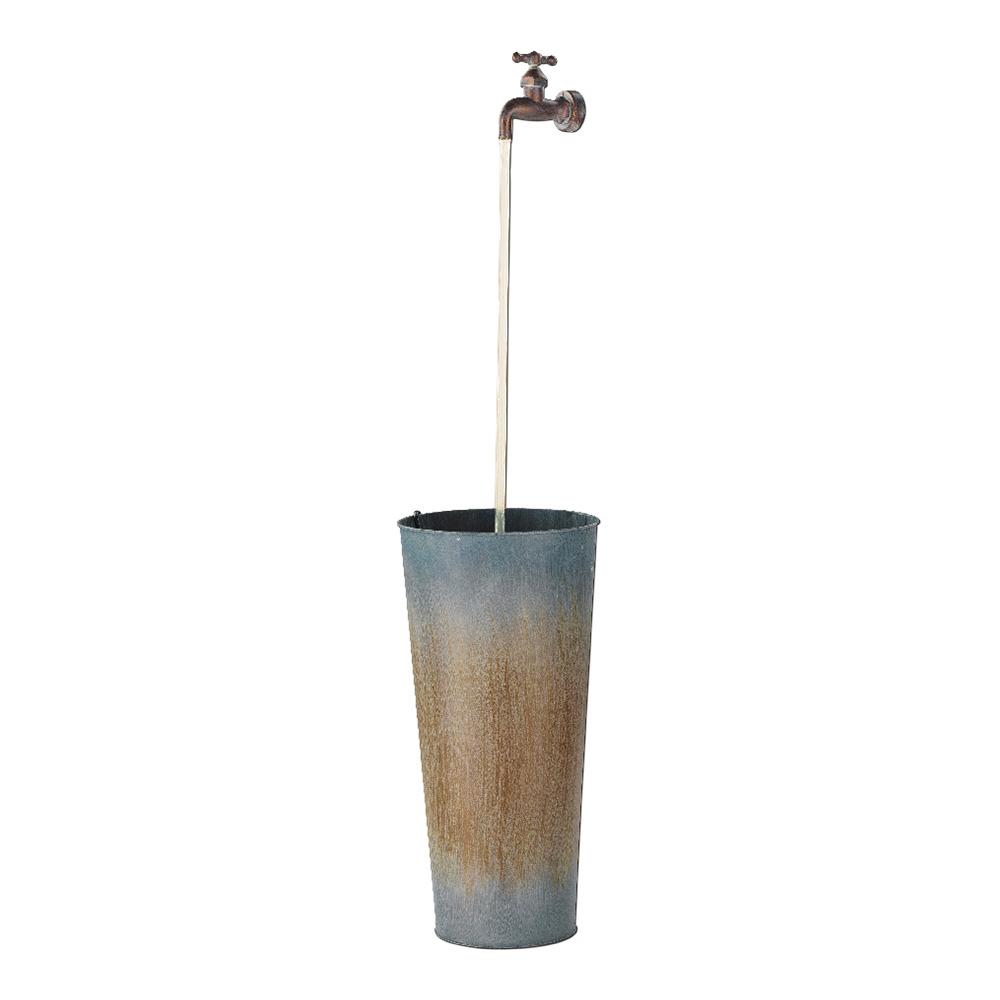 Fuente zinc con led 18x55cm