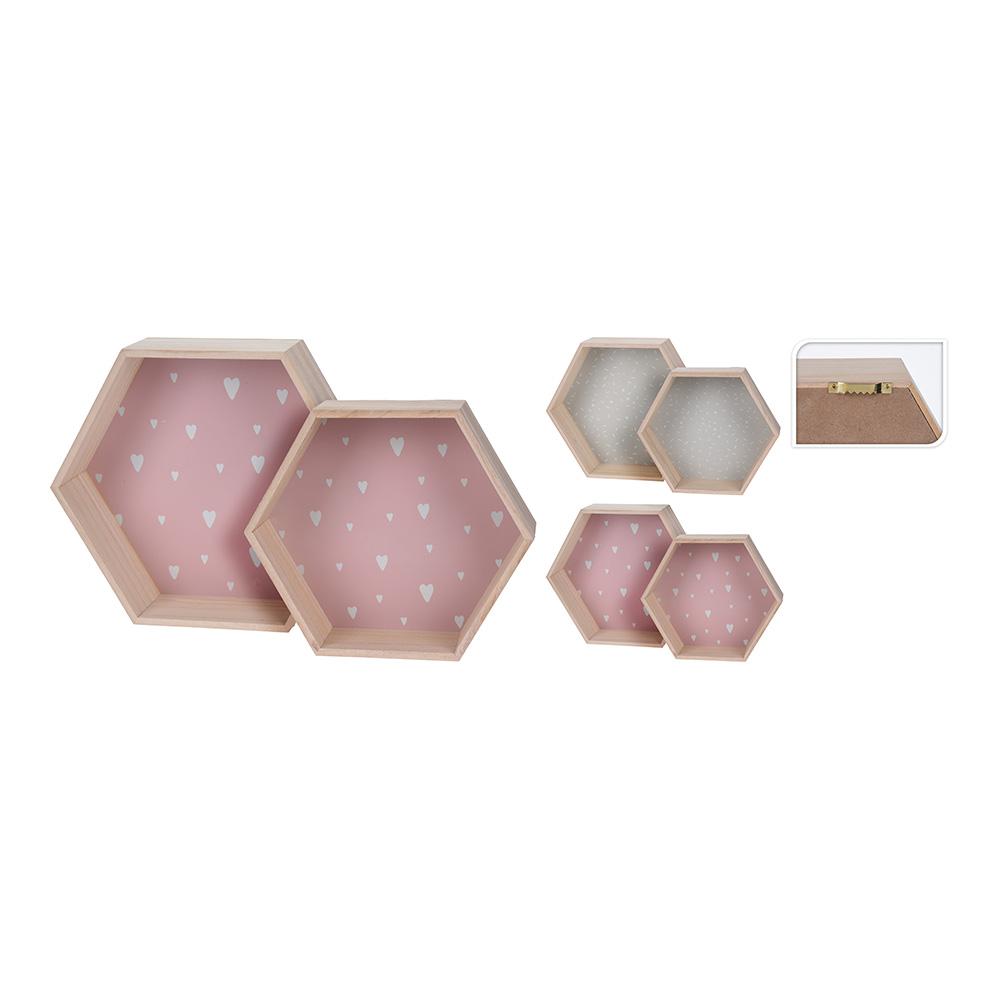 Pack 2 estanteria infantil hexagonal colores surtidos