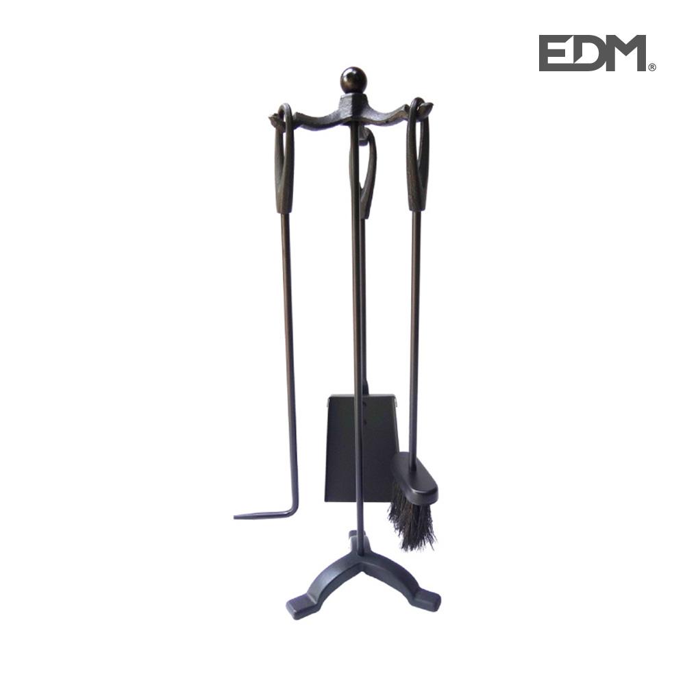 Kit de chimenea negro 3 piezas – edm