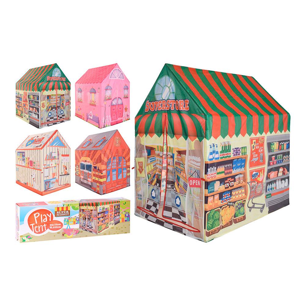 Casa de tela infantil 95x72x102cm modelos surtidos